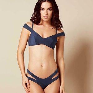 NWT Agent Provocateur Pia Navy Bikini Set